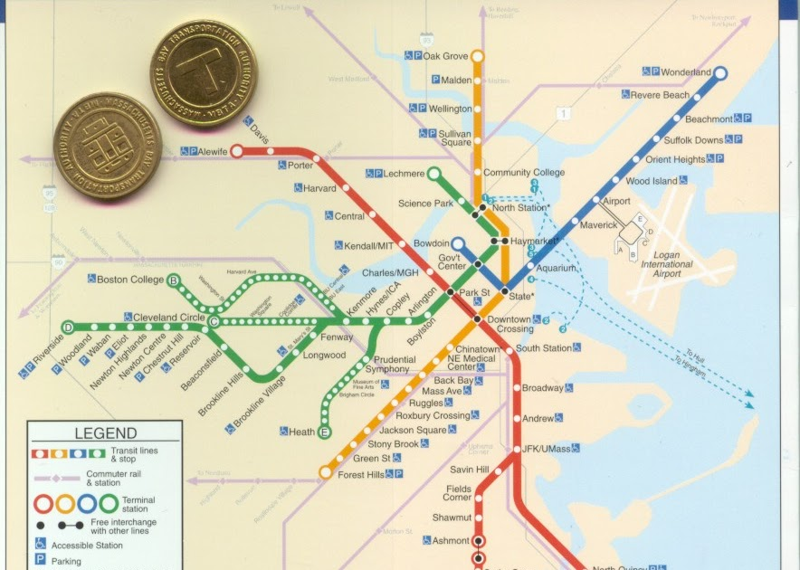 Boston Subway Map With Hotels.Boston T Map Free Printable Maps