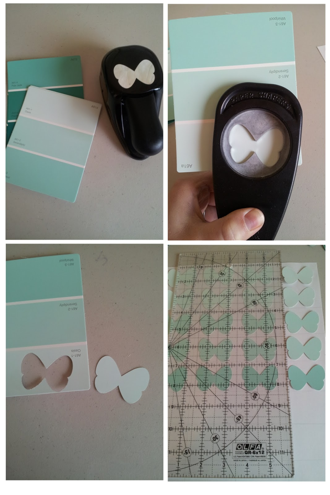 How To Make A Butterfly From Paint Chip Art