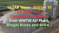 Image shows: Biogas News plus Anaerobic Digestion News