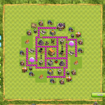 Base Clash of Clans Town Hall 6