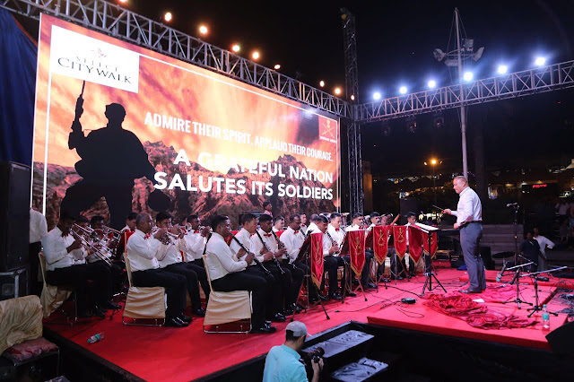 Soldiers of The Indian Armed Forces Felicitated At ''SALUTE THE BRAVEHEARTS'' Event At Select City Walk, New Delhi