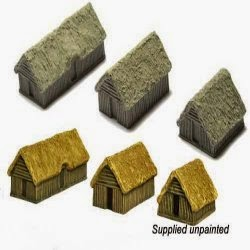 RD7 Dark Age Dwellings - Pack of 3.