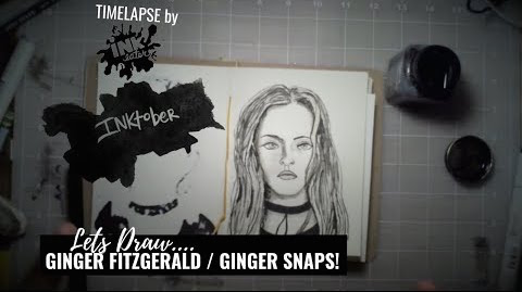 We Drew Ginger Fitzgerald from Ginger Snaps - INKTOBER 2018