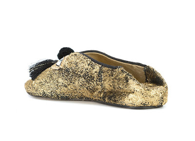 FIGUE pointed eye motif sequin mules
