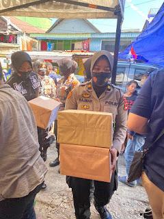 Sambut HUT Polwan Ke 72, Polwan Polres Pelabuhan Makassar Gelar Bakti Sosial