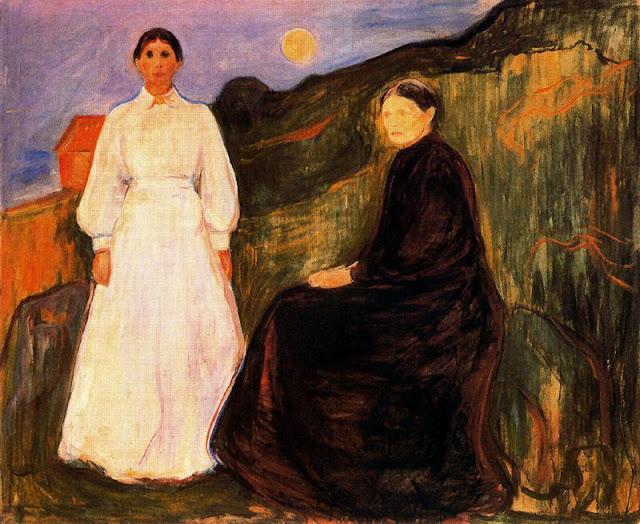 Эдвард Мунк - Мать и дочь. 1897