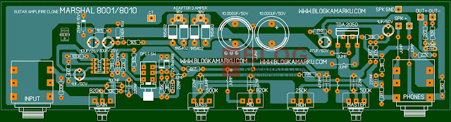 Revisi PCB Layout Guitar Amplifire Marshal 8001/8010 Komplit