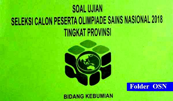 Download Soal OSP Kebumian 2018