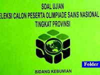 Download Soal OSP Kebumian 2018