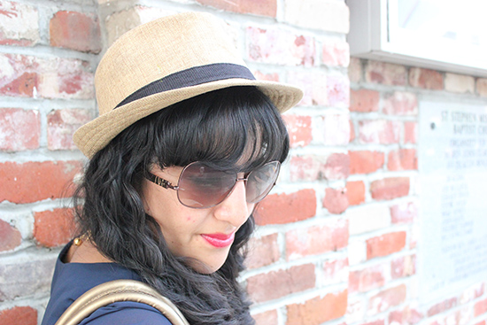 Fedora and DVF Aviator Sunglasses