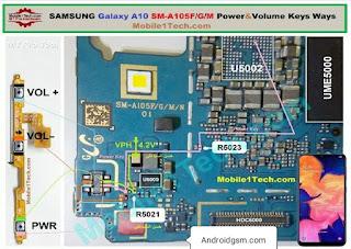 Samsung Galaxy A10 A105F Volume Button Jumper