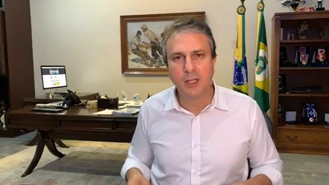 """""""Já estamos avaliando a prorrogação do decreto para as pessoas ficarem em casa"""", diz Camilo em Live nesta quinta, 2 de Abril."""