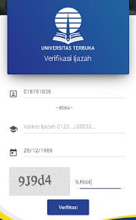 cek keaslian ijazah universitas terbuka