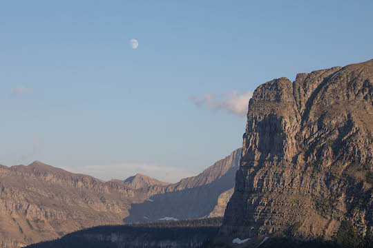 Moonrise in Glacier National Park