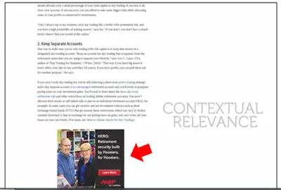 Infolinks Ad Example - InArticle