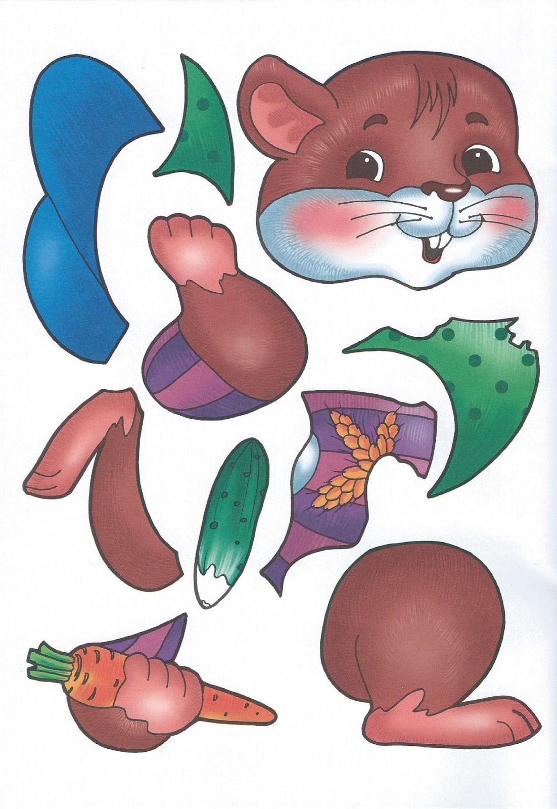 Картинки животных для детей для аппликации