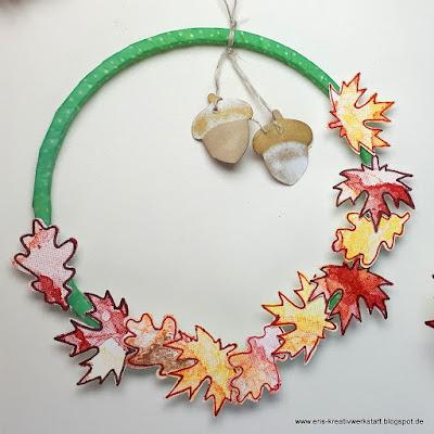Kleine Herbstkränze als Anhänger an Geschenken Stampin' Up! www.eris-kreativwerkstatt.blogspot.de