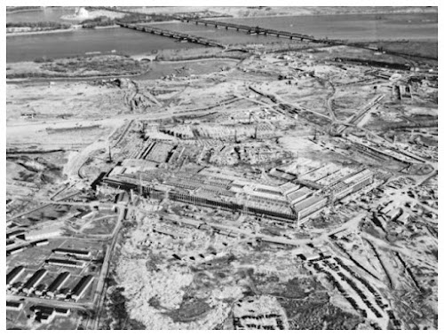 Construção do Pentágono em 11 de Setembro de 1941