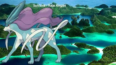 kalautau.com - Pokemon Legendaris Suicune - Raja Ampat