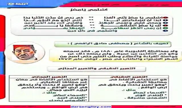 اجمل شرح لنشيد اسلمي يا مصر لمصطفى صادق الرافعى للصف الرابع الابتدائى الترم الاول 2022