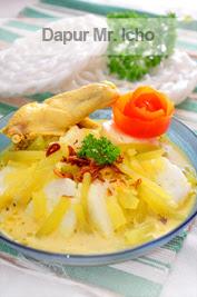 Resep Lontong Sayur Ayam : resep, lontong, sayur, Ketupat-Lontong, Lontong, Sayur