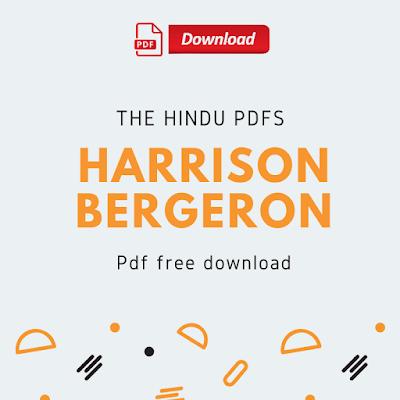 Harrison Bergeron Pdf Free Download