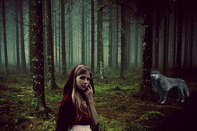 El lobo y la joven de la capa roja