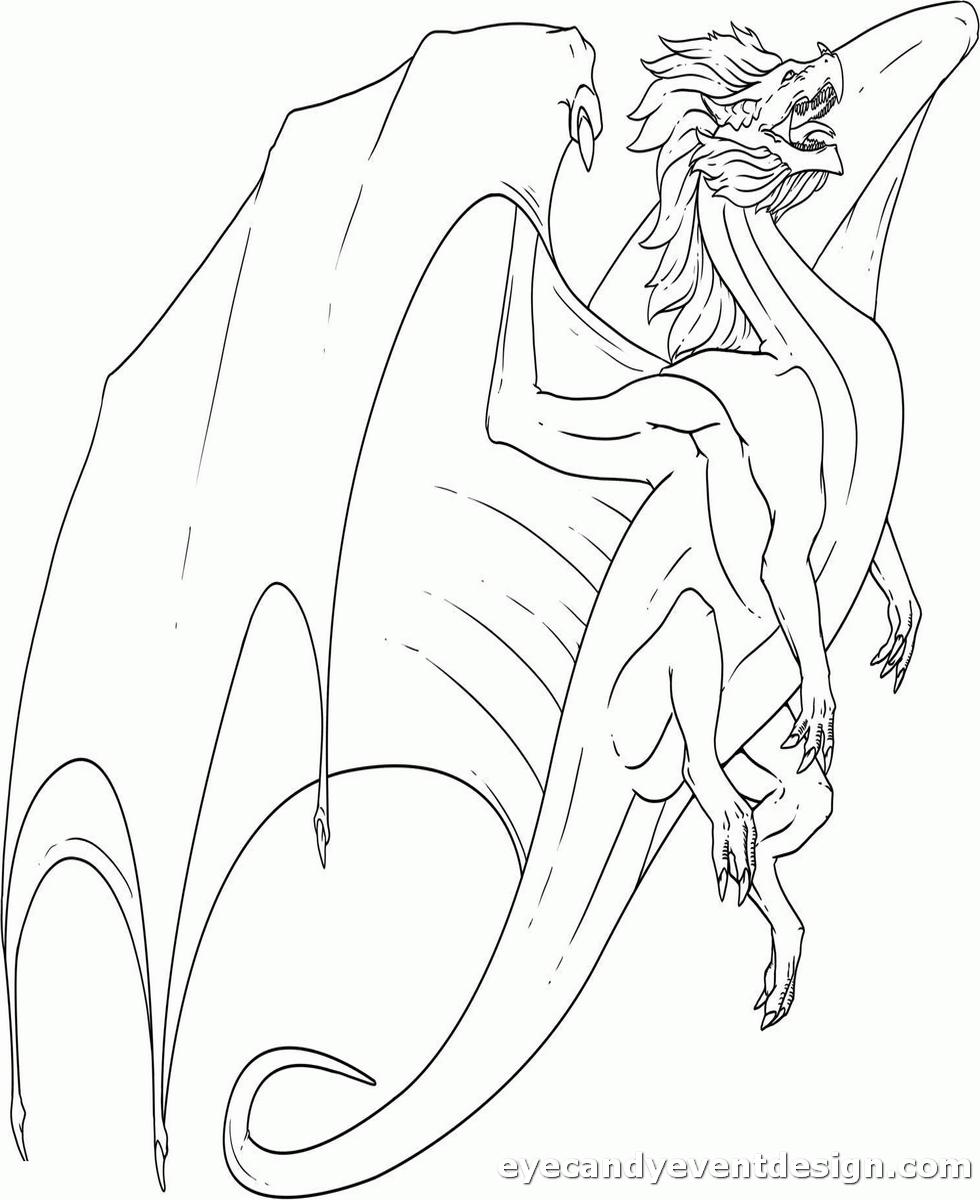 Ausmalbilder Drachen