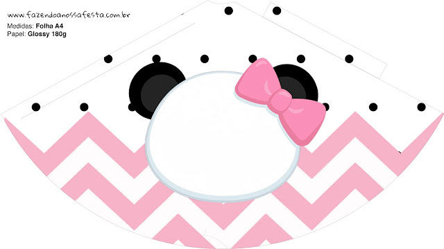 Panda Baby in Pink Chevron: Free Party Printables.