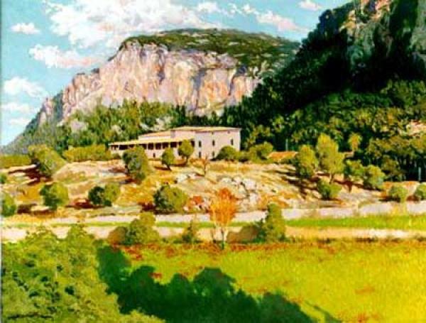 Francisco Gutiérrez Rivera, Valldemossa, Mallorca en Pintura, Mallorca pintada, Paisajes de Mallorca