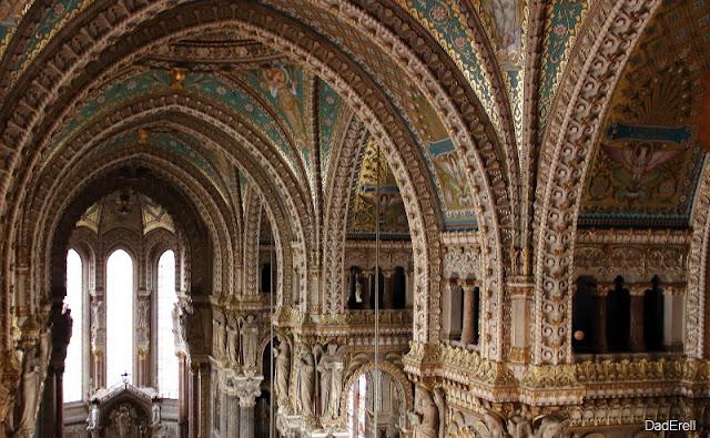 Lyon Basilique de Fourvière voûte de la nef