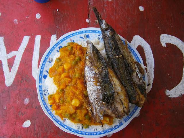 receta peruana del locro de zapallo con pescado frito