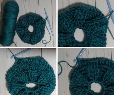crochet messy bun hat steps