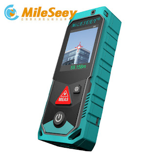 Jual Mileseey P7 Bluetooth Laser Rangefinder with Rotary Touch Screen Rechargerable Laser Meter(80M)