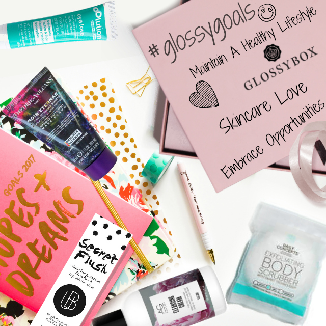 Skincare Goals For 2017 With Glossybox and Barbies Beauty Bits