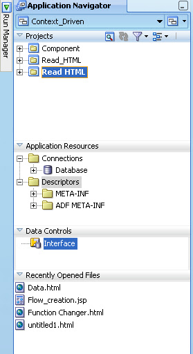Jdeveloper Application Navigator