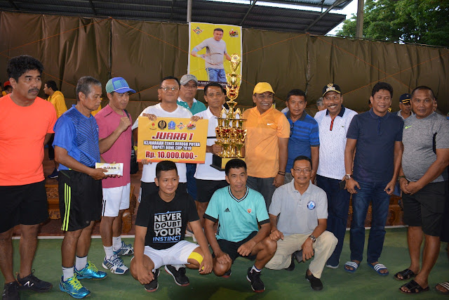 Kodam XVI/Hsn Juara I di Turnamen Tenis Bupati Bone Cup 2019
