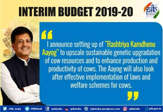 interim-budget-2019-Rashtriya-Kamdhenu-Aayog