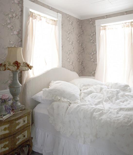 Shabby chic romantic feminine bedroom with ruffles by Rachel Ashwell