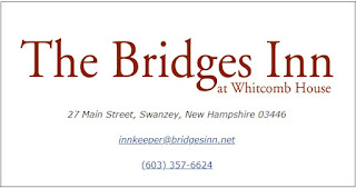 An image with the Bridges Inn logo and contact into