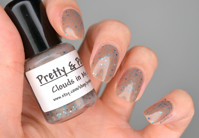 Pretty & Polished Clouds in My Coffee Swatch