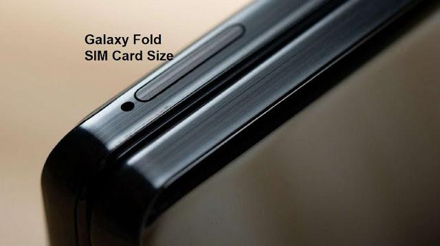 Samsung Galaxy Z Fold SIM Card Size