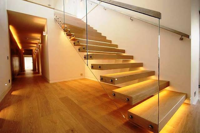 Menata lampu tangga