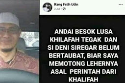 Kang Fatih Udin Ancam Habisi Nyawa Denny Siregar