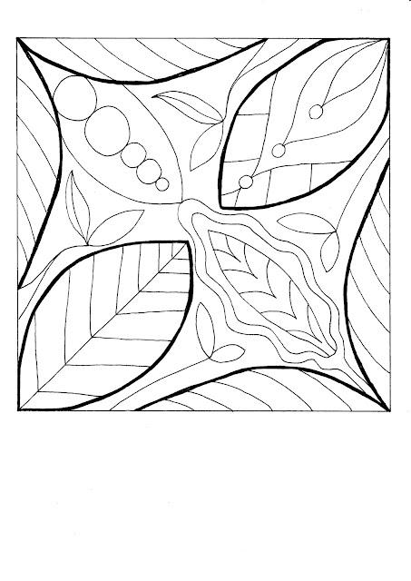 Vorlage Herbst-Blätter für ein Mosaik