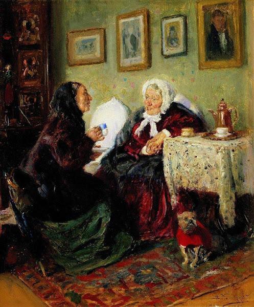 Маковский Владимир Егорович - Тет-а-тет. 1909