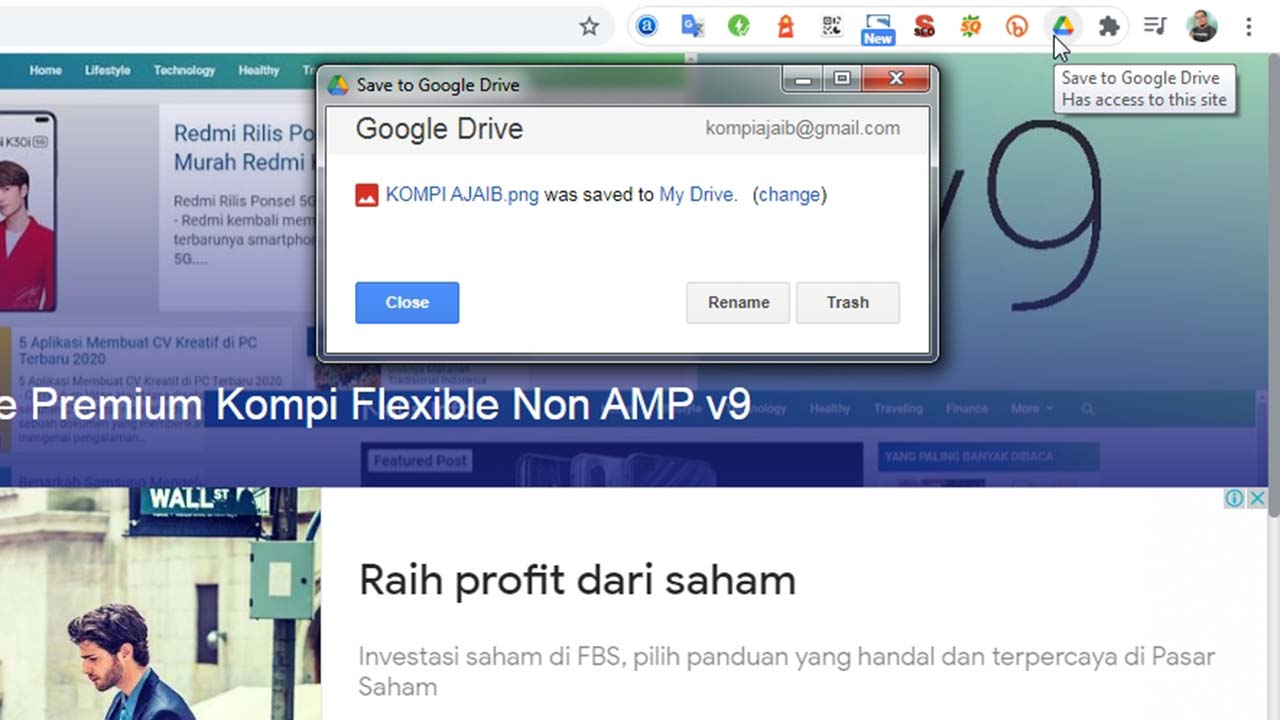 Screenshot Full Halaman Website Dengan Google Drive