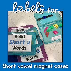 Labels for Short Vowel Boxes