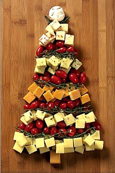árbol de navidad con queso