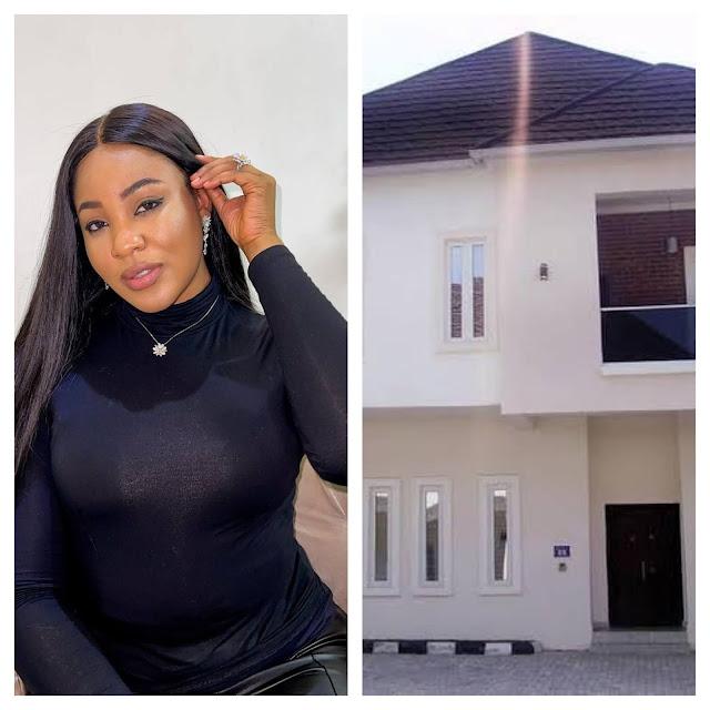 BBNaija star, Erica Nlewedim Buys a new house in Abuja (Photos)